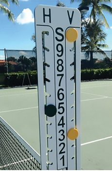 Loveone Tennis Scoreboard Green Yellow